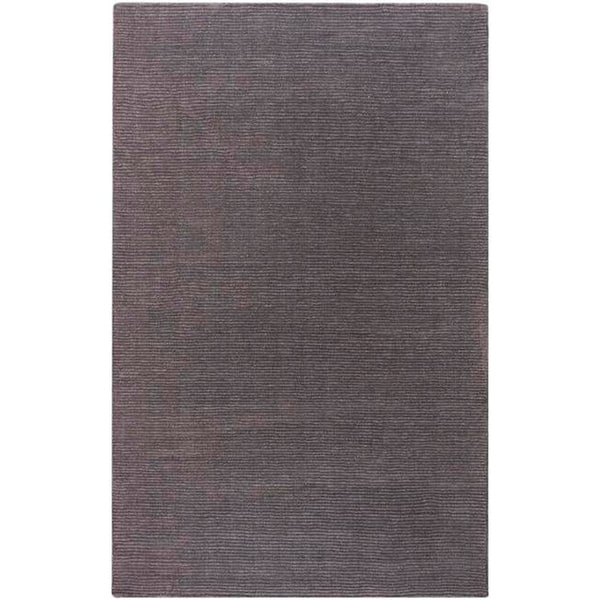 Hand-crafted Solid Brown Casual Happy Wool Rug (2' x 3')