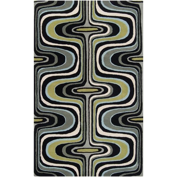 Tepper Jackson Hand-tufted Dreamscape Grey Wool Rug (2' x 3')