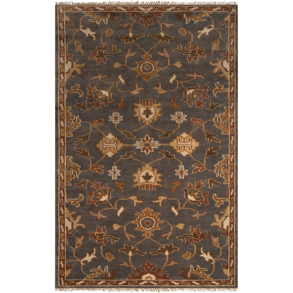 Hand-knotted Grey Southwestern Donovan Wool Rug (2' x 3')