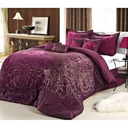 Shop Lakhani 8 Piece Plum Comforter Set Free Shipping