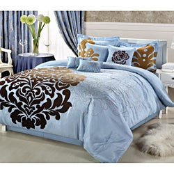 Lakhani 8-piece Blue Comforter Set