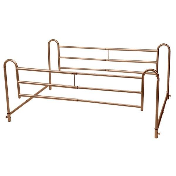 Drive Medical Home Bed Style Adjustable Length Bed Rails (Set of 2)