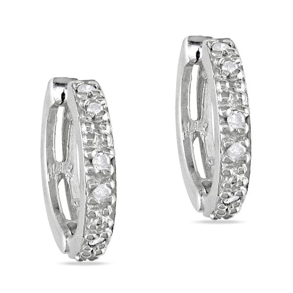 Miadora 14k White Gold 1/8ct TDW Diamond endless Earrings (J-K, I2-I3)