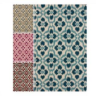 nuLOOM Handmade Trellis Ikat Rug (5' x 8')