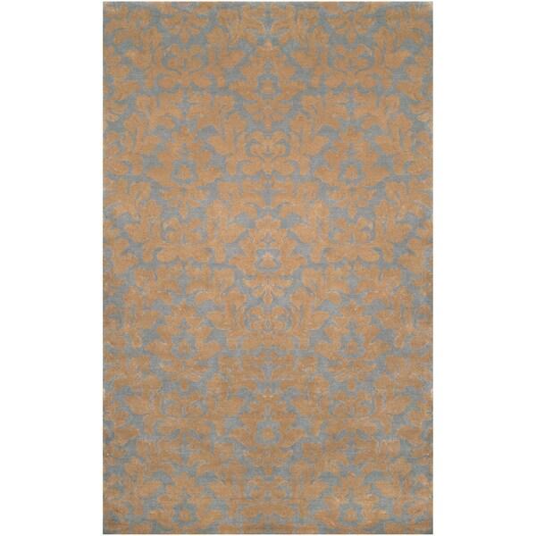 Hand-tufted Jayton Beige Wool Rug (2' x 3')