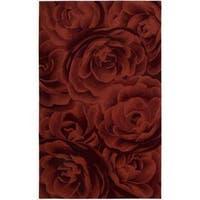 Nourison Hand-tufted Moda Red Petal Rug - 5'6 x 7'5