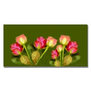 Kathie McCurdy 'Roses Frieze Larger' Canvas Art