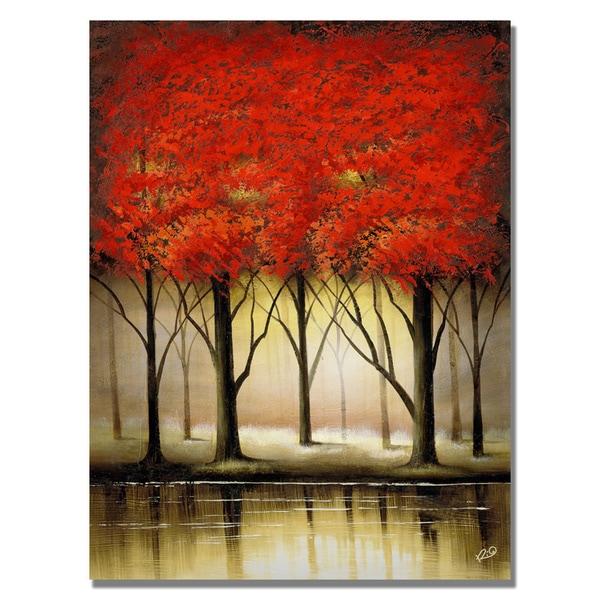 Rio 'Serenade in Red' Canvas Art