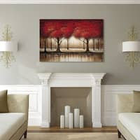 Gracewood Hollow Rio 'Parade of Red Trees' Canvas Art