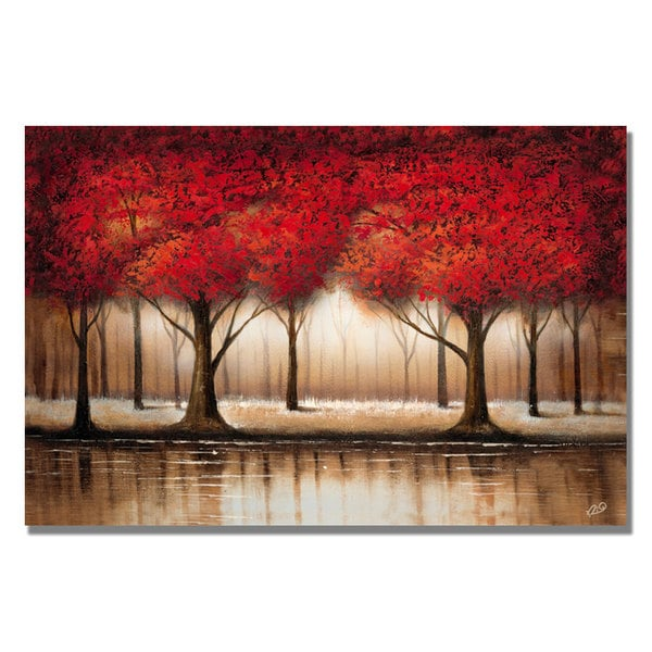 Rio 'Parade of Red Trees' Canvas Art