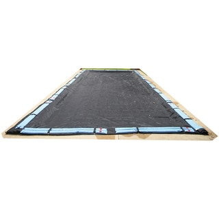 Blue Wave Rectangular Rugged Mesh In Ground Winter Pool Cover