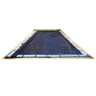 Blue Wave Rectangular Leaf Net In Ground Pool Cover (More options available)