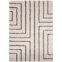 Carson Carrington Haninge Ivory Geometric Shag Area Rug (2' x 3')