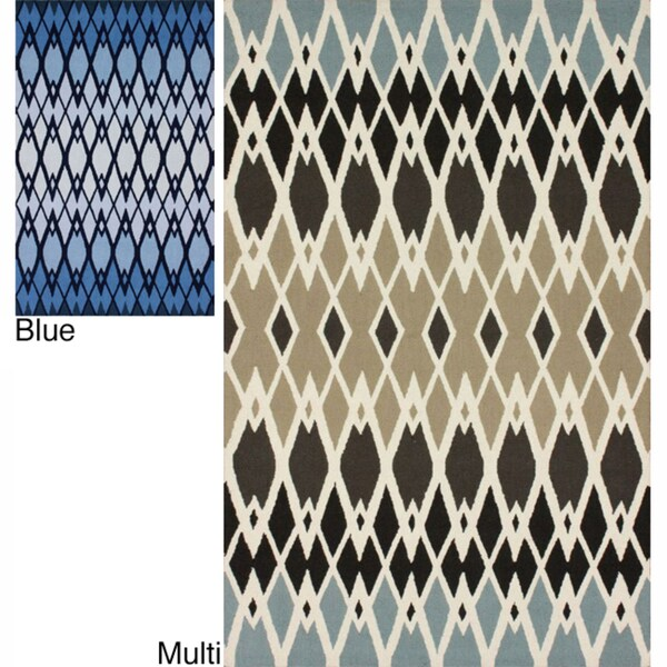 nuLOOM Handmade Fence Wool Rug (8' x 10')