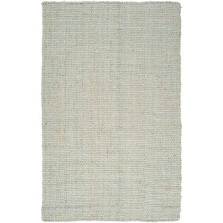 Hand-woven Kenefick Grey Natural Fiber Jute Rug (2'6 x 4')