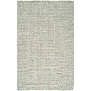 Hand-woven Kenefick Grey Natural Fiber Jute Area Rug (2'6 x 4')