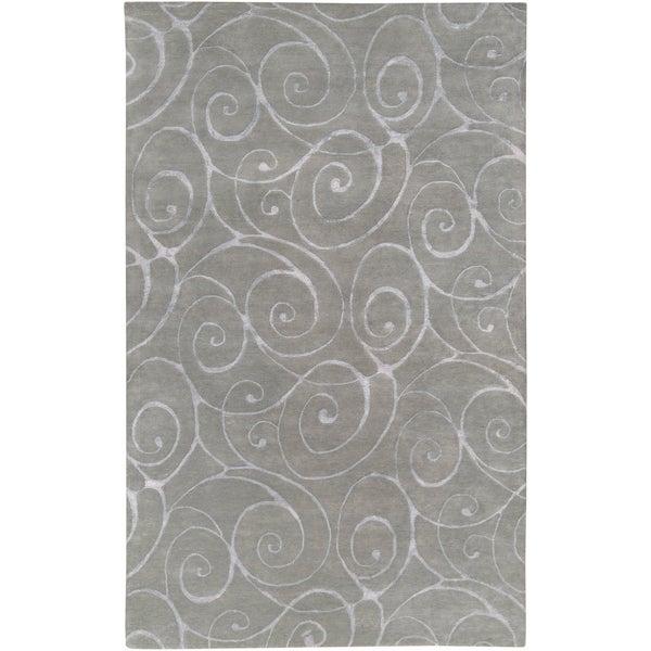 Hand-tufted Jerrara Grey Wool Rug (2' x 3')