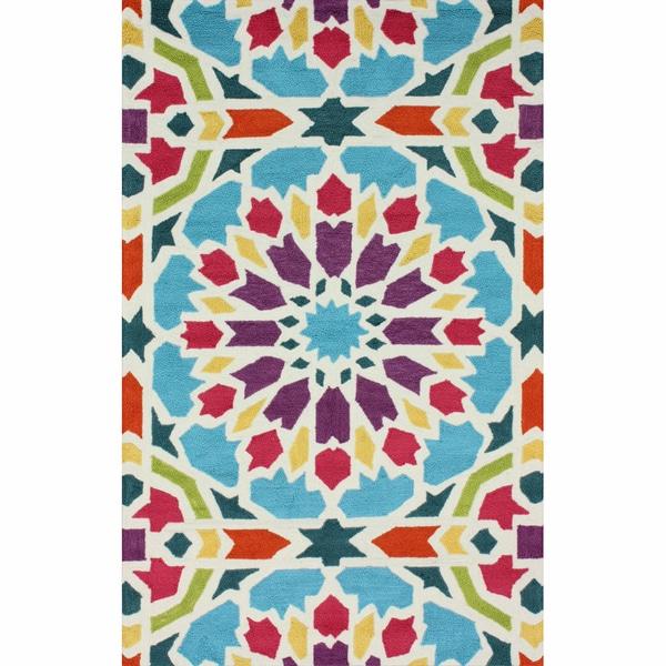 nuLOOM Handmade Mosaic Multi Rug (7'6 x 9'6)