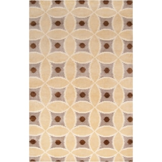 Hand-knotted Kirvin Beige Wool Rug (2' x 3')