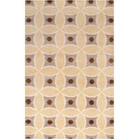 Hand-knotted Kirvin Beige Wool Area Rug - 2' x 3'