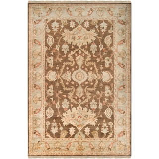 Hand-knotted LaCostes Brown Wool Rug (2' x 3')