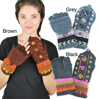 Two-in-One Knit Mittens (Nepal)