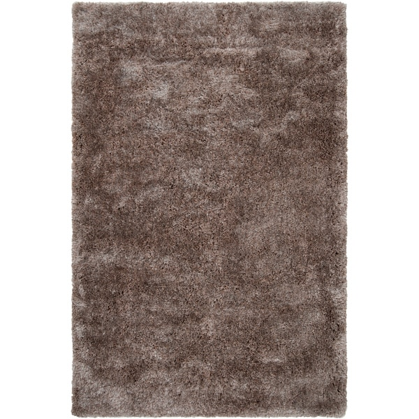 Hand-woven Lawndale Grey Super Soft Shag Area Rug (2' x 3') - 2' x 3'