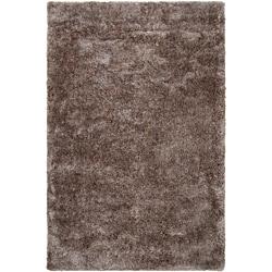 Hand-woven Lawndale Grey Super Soft Shag Rug (2' x 3')