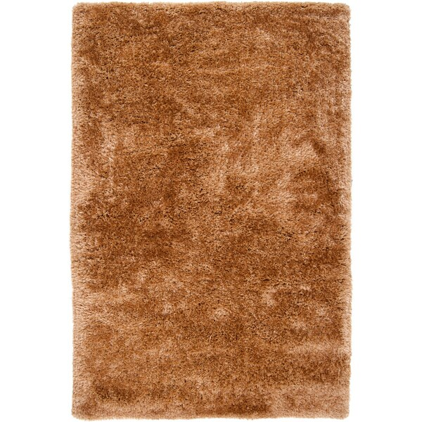 Hand-woven Leakey Brown Super Soft Shag Rug (2' x 3')