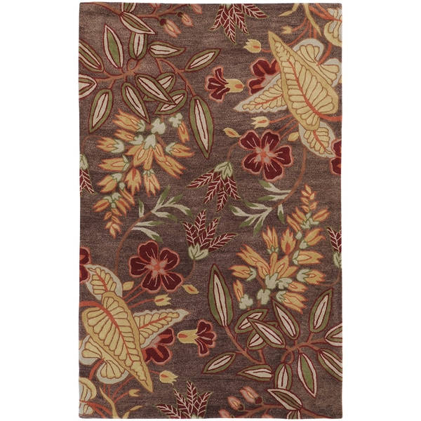 Hand-tufted Gramercy Brown Wool Rug (2' x 3')