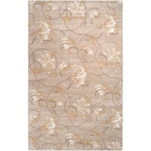 Hand-tufted Lindsay Beige Wool Rug (2' x 3')