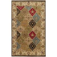 Hand-knotted Montesano Beige Wool Area Rug - 2' x 3'