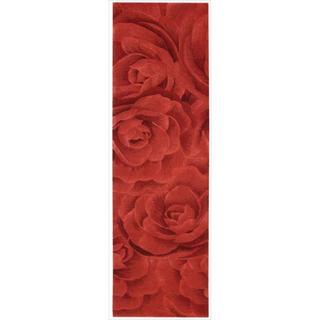 Nourison Hand-tufted Moda Red Petal Rug (2'3 x8')