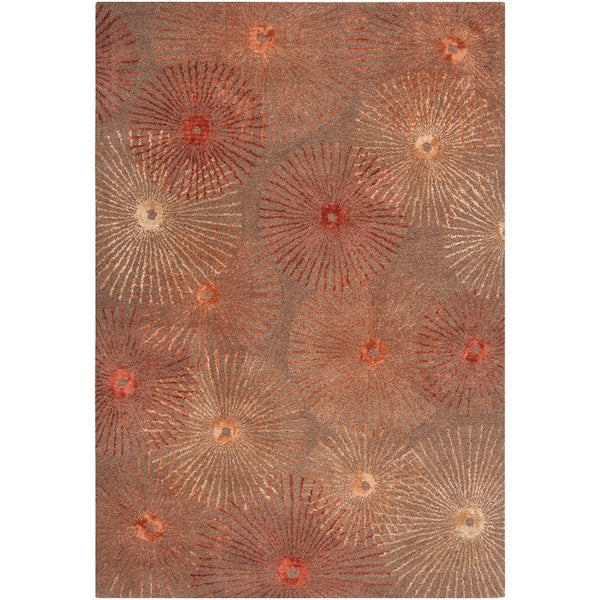 Hand-tufted Moorpark Brown Wool Area Rug - 2' x 3'
