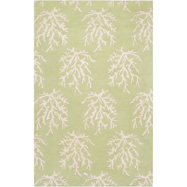 Somerset Bay Hand-tufted Moscow Green Beach Inspired Wool Rug (2' x 3')