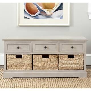 "Safavieh Damien Grey 3-drawer Storage Unit - 42.1"" x 15.4"" x 19.7"""