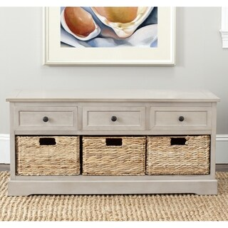 "Safavieh Damien Grey 3-drawer Storage Unit - 42.1"" x 15.4"" x 19.7"""