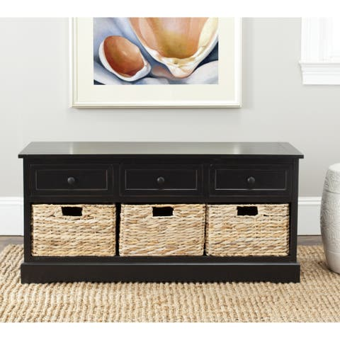 "Safavieh Damien Black 3-drawer Storage Unit - 42.1"" x 15.4"" x 19.7"""