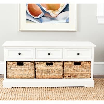 """SAFAVIEH Damien Cream 3-drawer Storage Unit - 42.1"""" x 15.4"""" x 19.7"""""""