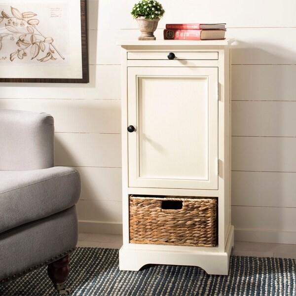 "Safavieh Cape Cod Cream 2-drawer Tall Storage Unit - 15.7"" x 13"" x 34.3"""