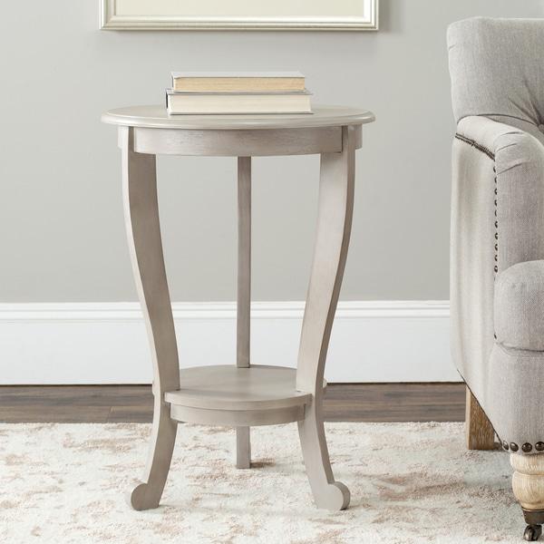 Safavieh Cape Cod Grey Pedestal Side Table
