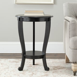 Safavieh Cape Cod Black Pedestal Side Table