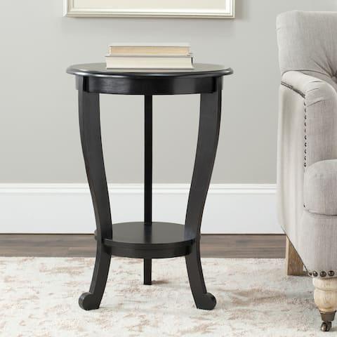 "SAFAVIEH Cape Cod Black Pedestal Side Table - 18.1"" x 18.1"" x 26"""