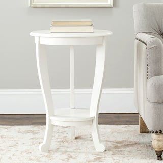 "Safavieh Cape Cod Cream Pedestal Side Table - 18.1"" x 18.1"" x 26"""