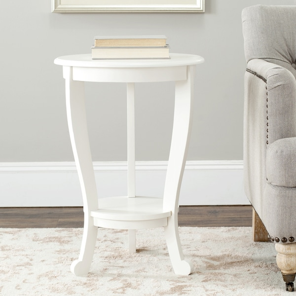 Safavieh Cape Cod Cream Pedestal Side Table