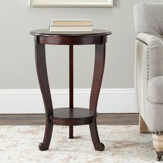 Safavieh Cape Cod Dark Cherry Pedestal Side Table