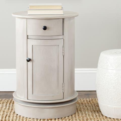 Safavieh Cape Cod Grey Swivel Storage Accent Table