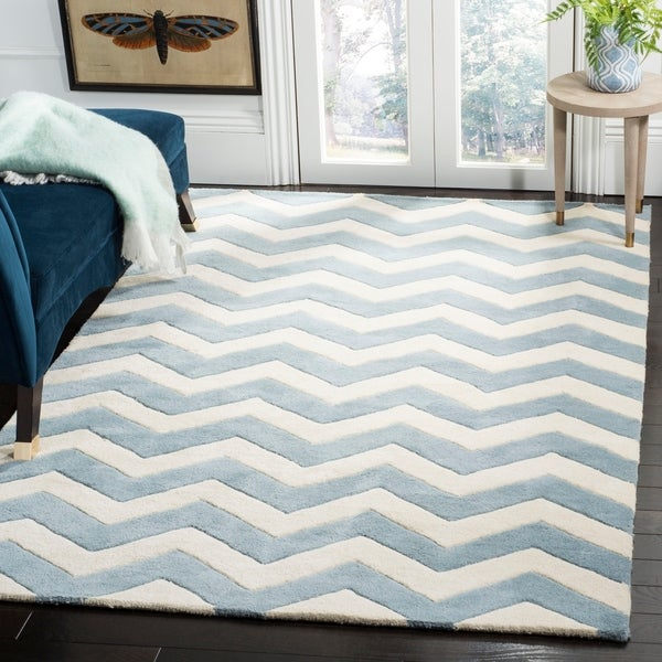 Shop Safavieh Handmade Moroccan Chatham Chevron Blue