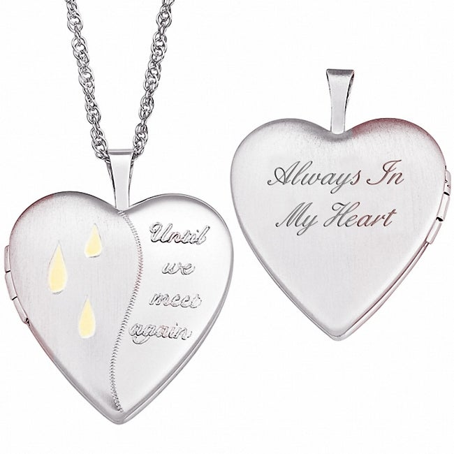 Sterling Silver Memorial Locket Necklace, Women's, Size: ...