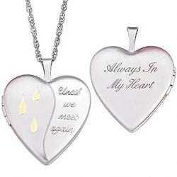 Sterling Silver Memorial Locket Necklace